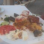 half eaten Greek plate
