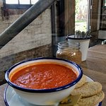 pepper and tomato soup- yummy big portion