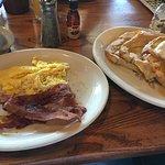 The bacon, egg and pancake choice