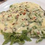 Fettucine Verde com Molho de 4 Queijos