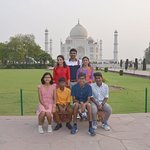 Taj Mahal- with our full group