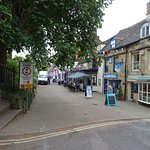 Middle Row, Chipping Norton with Whistlers in the middle distance with the awning