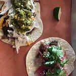 Carnitas taco & Brisket tacos