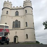 The bus we hired outside of Haldon Belvedere