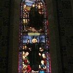 Vitrail de la vie de Saint Valery, le moine auvergnat nommé Gwalaric...Walric puis Valery -