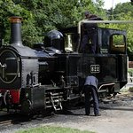 The Earl taking on water at Welshpool
