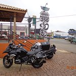 Ponto de parada e fotos tradicional para os motociclistas