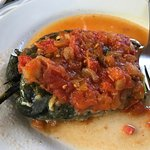 Chile relleno -- so smoky and amazing! I ordered another half way through eating this one.