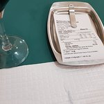 bill for Bitoque and red home wine and water ( no starters)