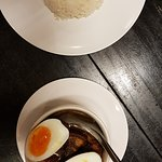 Stewed pork served with rice