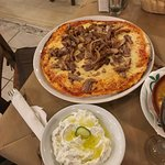 Pizza gyros with tzatziki. It was Amazing