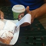 beignets and hot coffee