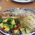 Stuffed Red Snapper meal