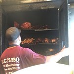 Slowly BBQ'd and with amazing sauce is how everything is served at LC's