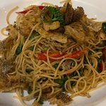 salted fish pasta - yummy if you like spicey