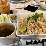 yummy crab meat fried rice - yes it comes with soup - I asked for the dried chillies to be remov