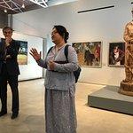 Curator Mr. Joes Segal and CC Sister City Iksan Interpreter Hannah Lee