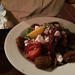 Falafels and salad
