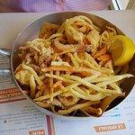 fritto pesce con verdurine