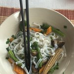 vegetarian noodle breakfast