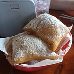 Hot, steamy, sweet beignets!