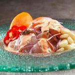 Cebiche Segundo Muelle, Corvina y Pulpo en nuestra salsa secreta