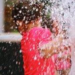 Frolicking in the splash park!
