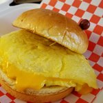 Egg and Cheese Omelette Sandwich