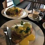 Everytime I fly into Melbourne we stop at Red Beard for the Eggs Benedict and a loaf of Carmen M