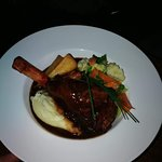 Overnight slow cooked lamb shank