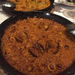 Seafood Paella and Beef & Chicken Paella