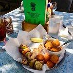 (8/28/2018) chicken & vegetable kabobs and those wonderful croquetas!