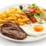 SUNDAY SPECIAL ,250 GRAMS SIRLOIN OR RUMP STEAK WITH CHIPS AND EGG 70RANDS