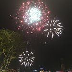 Firework show before Independence Day