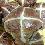 homemade hot cross buns. Very popular