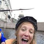 kayak in the canal of saint petersbourg