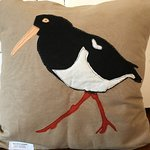 Oyster Catcher cushion for bird lovers.