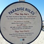 nice that everyone respected the beach rules