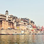 View of Ghats from the middle of Ganges