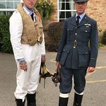 Dashing men in uniform graced us with their presence for our 1940s Weekend