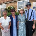 Building managers and staff ready for the 1940s weekend