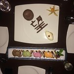 Too busy enjoying the first courses. Mouth-watering Chocolate Fondant & Mochi Ice cream