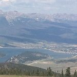 View of Lake Dillon from the Overlook Grill atop Keystone Mountain, CO
