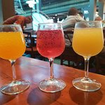 Mimosa flight with orange, liliko'i and pineapple juice
