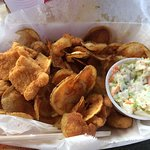 Fish & Chips with Coleslaw & Tarter Sauce