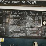 Extensive menu for such a small cafe.Impressive!
