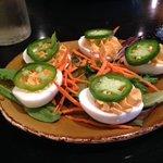 Siracha Deviled Eggs