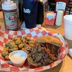 Pulled Pork and Fried Okra