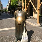 The Fat Policeman Statue - just one of many quirky and fun pieces of art all over the city