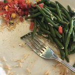 i had the grouper with rice and green beans . green beans were hard . went 8_25_18